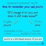 Spelling and grammar errors – even adults get these wrong