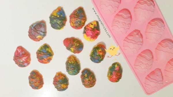 Easter egg crayons – Craft and gift ideas