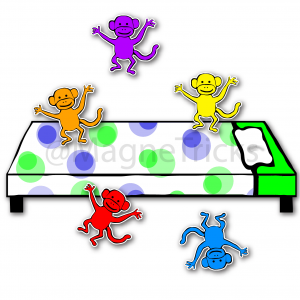 Five little monkeys – sing and play magnets