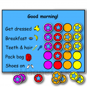 Morning Magnetic Routine Chart
