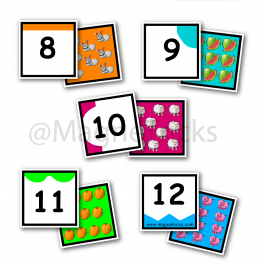 Number Matching Magnets to 12
