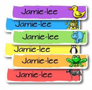 Colourful Personalised Vinyl Name Labels