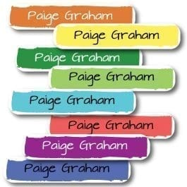 Plain Colourful Personalised Vinyl Name Labels